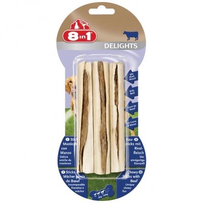 8in1 Delights Sticks à mâcher au bœuf