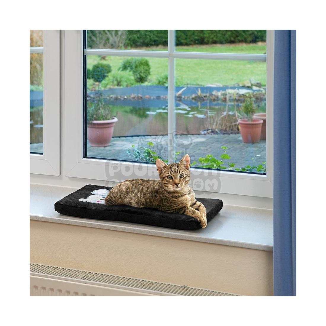 Coussin pour rebord de fen tre kitty for Vendeur fenetre