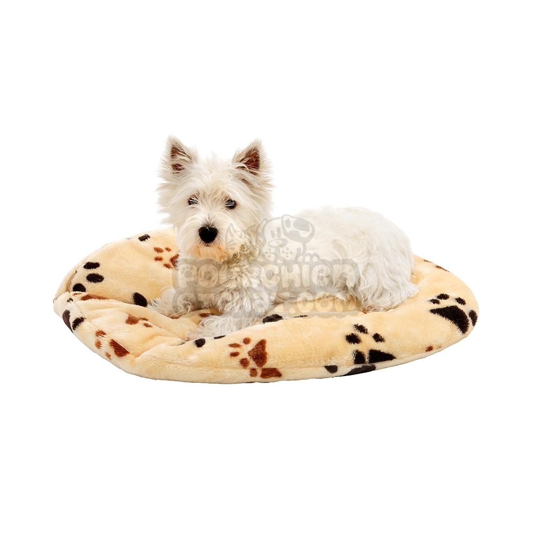 coussin pour chien ovale track beige. Black Bedroom Furniture Sets. Home Design Ideas