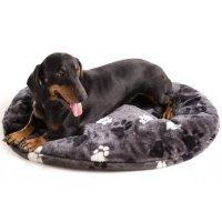 Coussin pour chien ovale TRACK gris