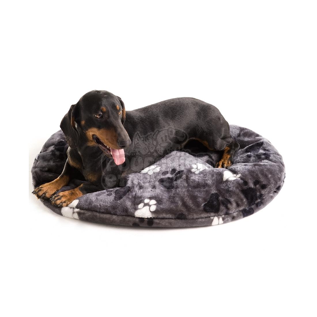 Coussin pour chien ovale track gris - Coussin pour chien ...