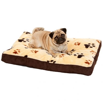 coussin pour chien rectangulaire track beige. Black Bedroom Furniture Sets. Home Design Ideas
