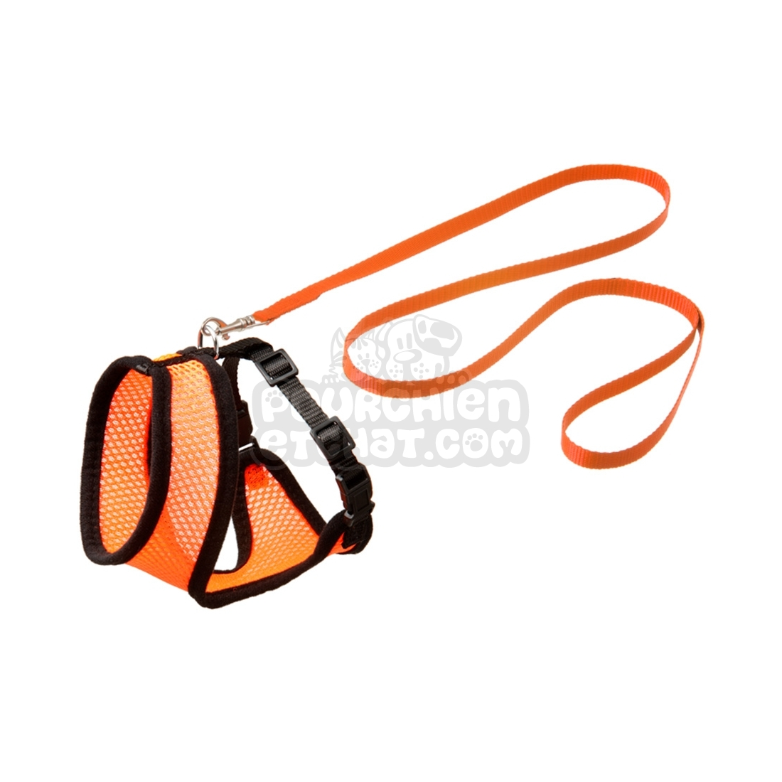 Ensemble laisse et harnais pour chat Original Harms orange