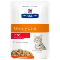Sachets Repas Hill's Prescription Diet Feline c/d Urinary Stress