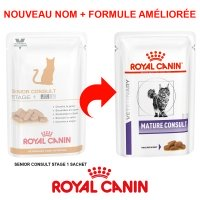 Sachets Repas Royal Canin Veterinary Diet Chat Senior Consult Stage 1