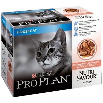 Sachets Repas PRO PLAN Nutrisavour Housecat Saumon