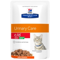 Sachets Repas Hill's Prescription Diet Feline c/d Urinary Stress Reduced Calorie