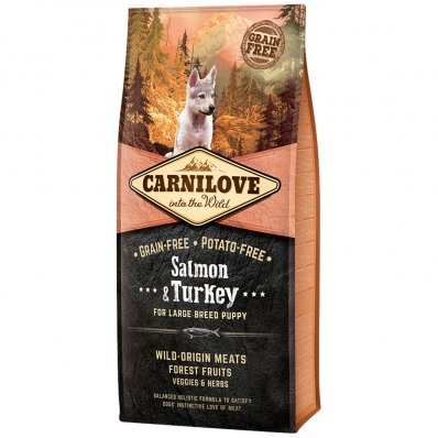 Croquettes chien CARNILOVE Large Breed Puppy Salmon & Turkey