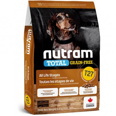 Croquettes chien Nutram Total Grain-Free T27 Small et Toy Breed Turkey, Chicken & Duck