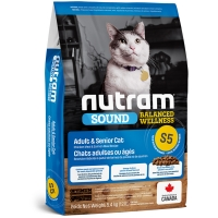 Croquettes chat Nutram Sound Balanced Wellness S5 Adult Cat
