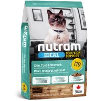 Croquettes chat Nutram Ideal Solution Support I19 Sensitive Skin, Coat & Stomach