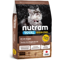 Croquettes chat Nutram Total Grain-Free T22 Turkey, Chicken & Duck