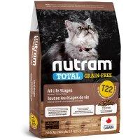 Croquettes chat Nutram Total Grain-Free T22 Turkey, Chicken & Duck