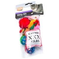 Lot de 8 jouets pour chat Karlie Flamingo Kitty Kit