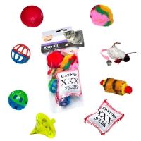 Lot de 8 jouets pour chat Karlie Flamingo Kitty Kit