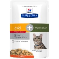 Sachets Repas Hill's Prescription Diet Feline Metabolic + Urinary Stress