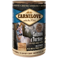 Boites chien CARNILOVE Adult Salmon & Turkey