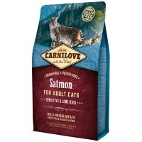 Croquettes chat CARNILOVE Adult Sensitive & Long Hair Salmon