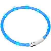 Collier lumineux pour chien LED bleu