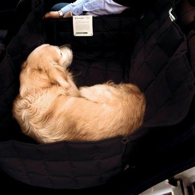 Couverture de protection banquette arrière 2 sièges Doctor Bark noir