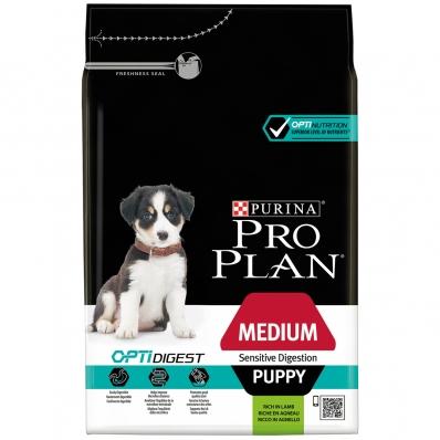 PRO PLAN Medium Puppy Sensitive Digestion OptiDigest à l'agneau