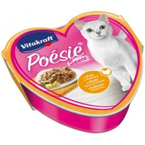 Barquettes chat Vitakraft Poésie en sauce à la dinde et fromage