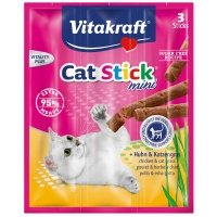 Friandises pour chat Vitakraft Cat-Stick Mini au Poulet et à l'Herbe à chat