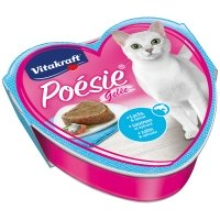 Barquettes chat Vitakraft Poésie en gelée au saumon et épinard