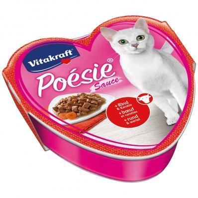 Barquettes chat Vitakraft Poésie en sauce au boeuf et carottes