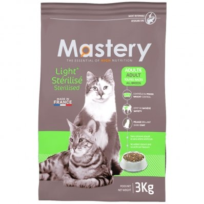 Croquettes chat Mastery Adult Light Sterilised
