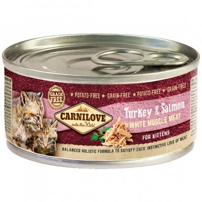 Boites chat CARNILOVE Kittens Turkey & Salmon