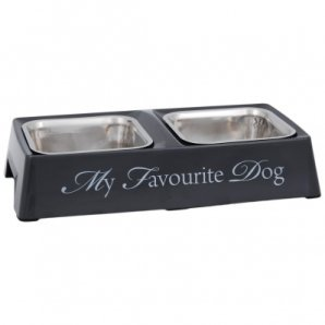 Gamelle double My Favourite Dog anthracite