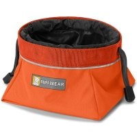 Gamelle de voyage pour chien Ruffwear Quencher Cinch Top Orange