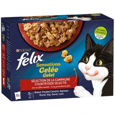 Sachets repas Felix Sensations en Gelée