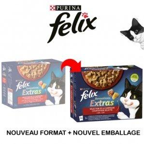 Sachets repas Felix Sensations Extras
