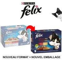 Sachets repas Felix Tendres Efillés Délicieux Duos