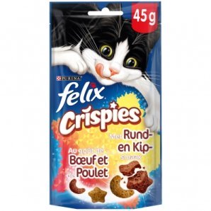 Friandises pour chat Felix Crispies au boeuf et au poulet