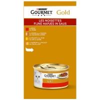Boites chat Gourmet Gold Les Noisettes