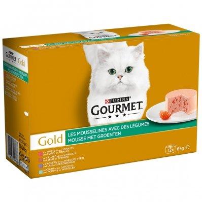 Boites chat Gourmet Gold Les Mousselines avec des Légumes