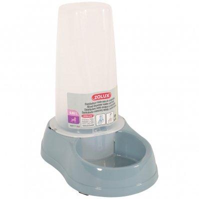 Distributeur mixte d'eau ou de croquettes antidérapant bleu acier