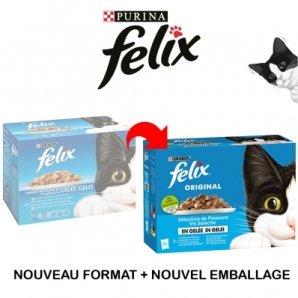 Sachets repas Felix Sélection aux Poissons en Gelée