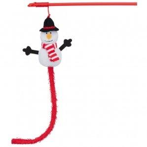 Canne à pêche pour chat Trixie Bonhomme de neige