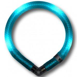 Collier lumineux pour chien LEUCHTIE Mini bleu turquoise