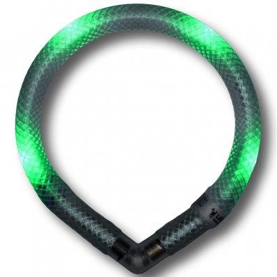 Collier lumineux pour chien LEUCHTIE Mini vert transparent