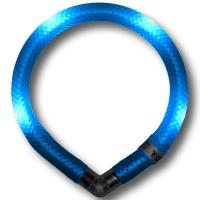 Collier lumineux pour chien LEUCHTIE Mini bleu glacier