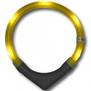 Collier lumineux pour chien LEUCHTIE Plus jaune
