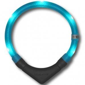 Collier lumineux pour chien LEUCHTIE Plus bleu turquoise