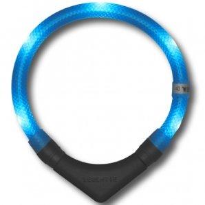 Collier lumineux pour chien LEUCHTIE Plus bleu glacier