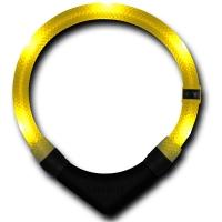 Collier lumineux pour chien LEUCHTIE Premium jaune