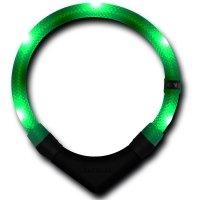 Collier lumineux pour chien LEUCHTIE Premium vert foncé